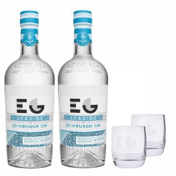 EDINBURGH GIN SEASIDE X2 (FREE 2 EDINBURGH GIN GLASS)