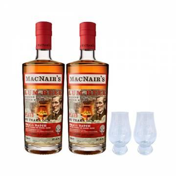 MACNAIR'S LUM REEK PEATED 21 YEARS X2 (FREE 2 MACNAIRS NOSING GLASS)