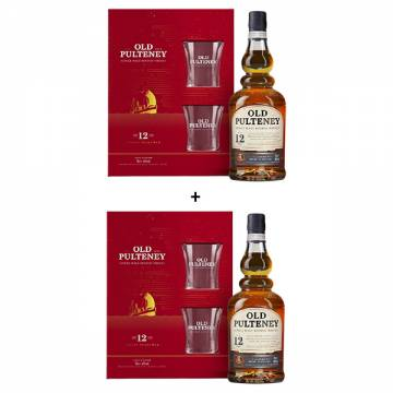 OLD PULTENEY 12 YEARS GIFT SET X2